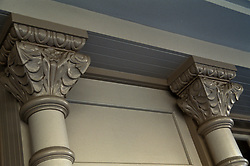 architectural detail close up corinthian style columns
