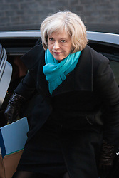London, February 24th 2015. Ministers arrive at the weekly cabinet meeting at 10 Downing Street. PICTURED: Home Secretary Theresa May