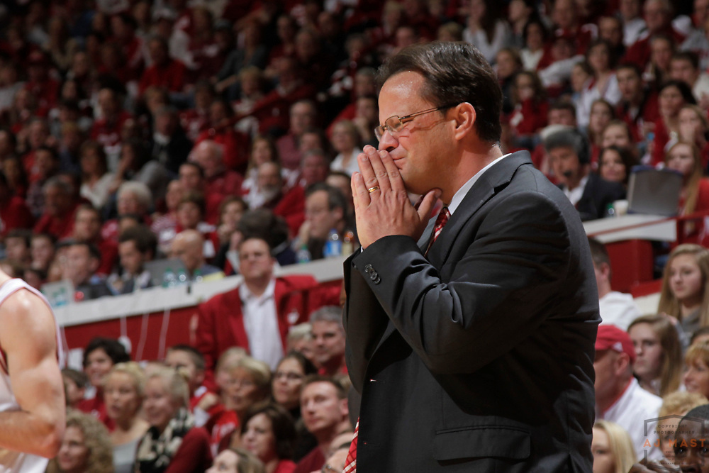 28 December 2012: Indiana head coach Tom Crean as the Indiana Hoosiers played the Jacksonville in Bloomington, Ind.
