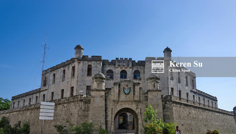 Police station building in the historic center, Havana, UNESCO World Heritage site, Cuba