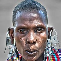 The Maasai woman - face in closeup