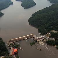 Cedar Creek Reservoir (also known as Rocky Creek Dam) Dam on the Catawba River below Great Falls, SC (Duke Energy)