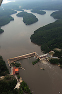 Cedar Creek Reservoir (also known as Rocky Creek Dam) Dam on the Catawba River below Great Falls, SC (Duke Energy)