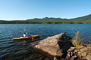Kayaking on Chittenden Reservoir, Chittenden, Vermont.