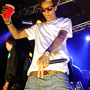 AUSTIN, TX - March 17th: Atlanta rapper Wiz Khalifa performs at the Atlantic Records showcase at La Zona Rosa as part of the 2011 South by Southwest Festival. (Photo by Kyle Gustafson)