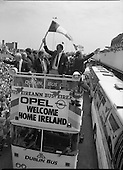 1988 - Irish Soccer Team Homecoming After Euro 88.  (R81).