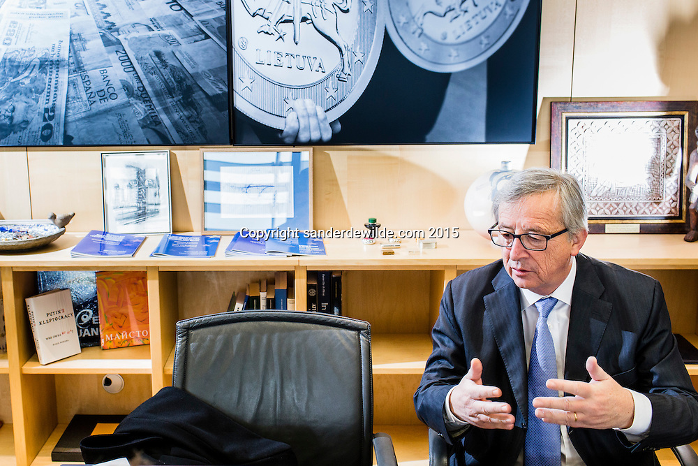 6 March 2015 Jean-Claude Juncker President of the European Commission, photographed at his office.