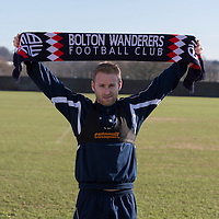 Picture shows Barry Bannan signing for Bolton Wanderers at their training ground at Euxton near Chorley Lancashire<br />