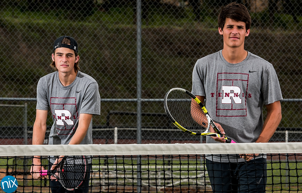 Jay M.  Robinson tennis players Cole and Clay Teal.