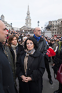 Mrs Sylvie Bermann, French ambassador in the UK at the gathering in Trafalgar Square to mourn the 17 people killed (12 of which on january 7th 2015 during the attack against Charlie-Hebdo offices in Paris.