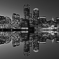 Boston B&amp;W photography of the famous Boston Harbor in Downtown Boston. This historic and iconic New England city of Boston night scenery photography image is available as museum quality photography prints, canvas prints, acrylic prints or metal prints. Fine art prints may be framed and matted to the individual liking and decorating needs:<br /> <br /> http://juergen-roth.pixels.com/featured/boston-harbor-hotel-juergen-roth.html<br /> <br /> Good light and happy photo making! <br /> <br /> My best, <br /> <br /> Juergen<br /> Website: www.RothGalleries.com<br /> Twitter: @NatureFineArt<br /> Facebook: https://www.facebook.com/naturefineart<br /> Instagram: https://www.instagram.com/rothgalleries<br /> Photo Blog: http://whereintheworldisjuergen.blogspot.com