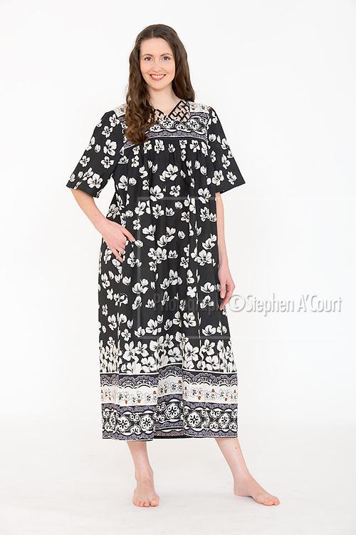 Lattice Neck Patio Dress Black/White. Photo credit: Stephen A'Court.  COPYRIGHT ©Stephen A'Court