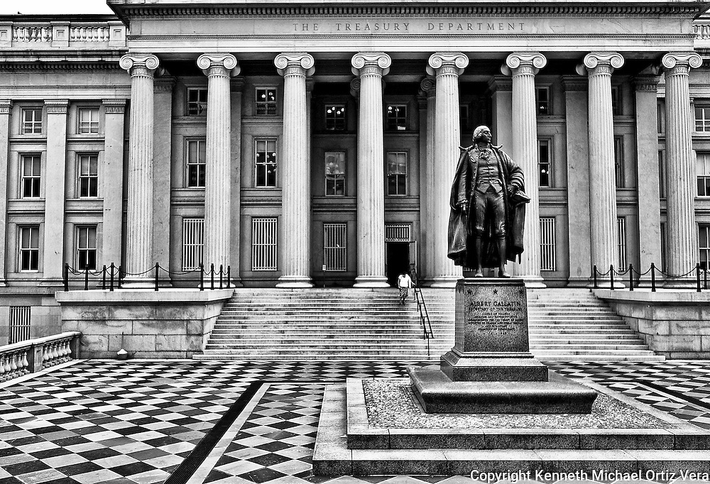 The U.S. Treasury Building in Washington D.C.