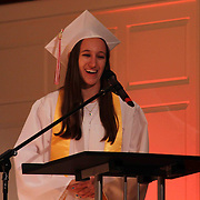 Red Lion Christian Academy Valedictorian Rachel Schmitz addresses students during commencement exercise Friday, May 29, 2015, at Glasgow Church in Bear, Delaware.