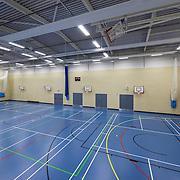 Interior of a school gymnasium