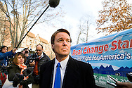 Former Sen. John Edwards (D-NC) speaks with the media in Nashua, N.H., on Friday, Jan. 4, 2008.