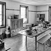 A room for preparing, mixing and storing medicinal items at Hancock Shaker Village in Massachusetts.