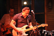 Guitarist Jimmie Vaughan performs at Beale On Broadway in St. Louis, MO on June 18, 2010.