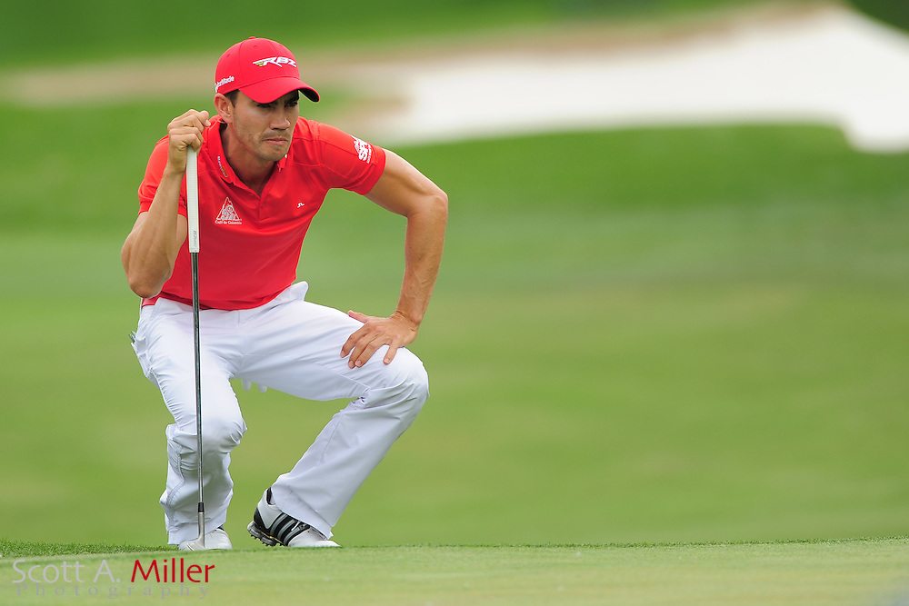 Camilo Villegas during the third round of the Wells Fargo Championship at the Quail Hollow Club on May 5, 2012 in Charlotte, N.C. ..©2012 Scott A. Miller.