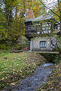 Peleș Castle, Neo-Renaissance, Carpathian Mountains, Sinaia, Prahova County, Romania, built between 1873 and 1914.