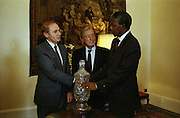 02/07/1990<br /> 07/02/1990<br /> 02 July 1990<br /> Nelson Mandela visits Ireland. With Taoiseach Charles Haughey.
