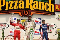 Dario Franchitti, Ryan Briscoe, Hideki Mutoh, Iowa Speedway, Indy Car Series