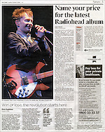 Thom Yorke, Radiohead / The Times / October 2007