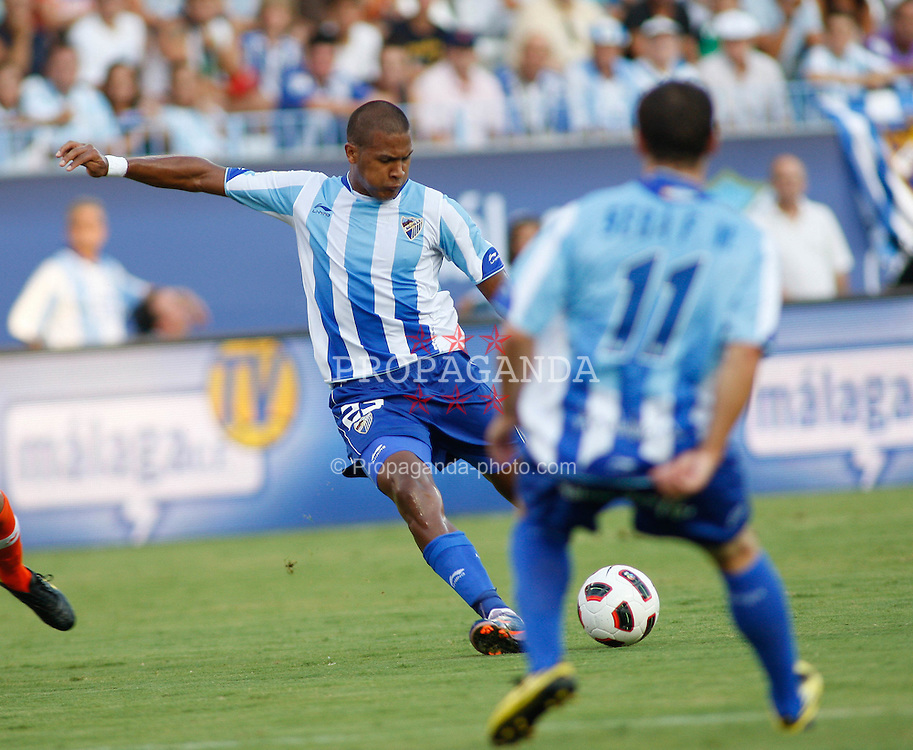 28.08.2010, Estadio La Rosaleda, Malaga, ESP, Primera Division, FC Malaga vs FC Valencia, im Bild Salomón Rondón the Malaga forward  in action. EXPA Pictures © 2010, PhotoCredit: EXPA/ M. Gunn