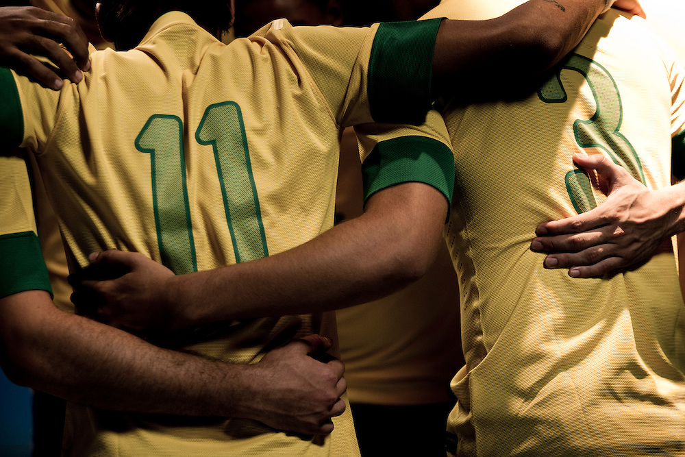 Sao Paulo, Brazil, Thursday - February 16, 2012: Neymar and Ganso, Brazilian football team players, during a Nike advertisement filmmaking in Sao Paulo - Brazil. (photo: Caio Guatelli)
