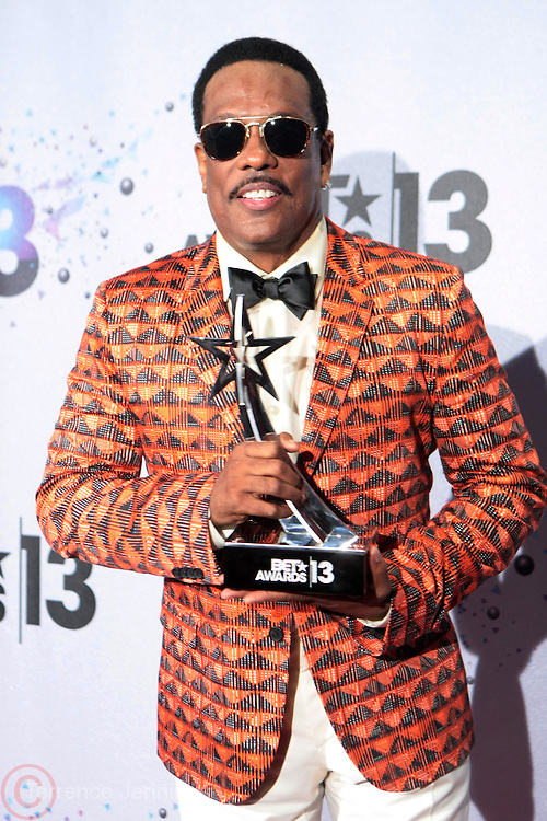 Los Angeles, CA-June 30:  Recording Artist Charlie Wilson backstage the 2013 BET Awards Winners's Room Inside held at LA Live on June 30, 2013 in Los Angeles, CA. ©Terrence Jennings/Retna, Ltd
