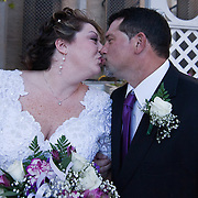 11/11/11 Elkton MD: Susan Lynn McGinnis and Michael Paul Daugherty of New Castle Delaware share a kiss after during their wedding Friday, Nov. 11, 2011 at Elkton Wedding Chapel in Elkton Maryland.<br /> <br /> Special to The News Journal/SAQUAN STIMPSON
