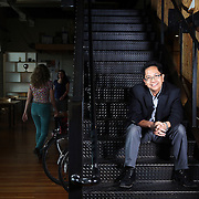 Andrew DeVigal, formerly of The New York Times, now at Second Story in Portland, Ore. Photographed for Wired Magazine's Raw File blog.