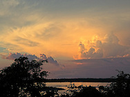 Sunset at Cabot Cruz, Granma Province, Cuba. This is 10 kilometers from where Castro landed.