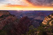 Sunset at Grand Canyon National Park.