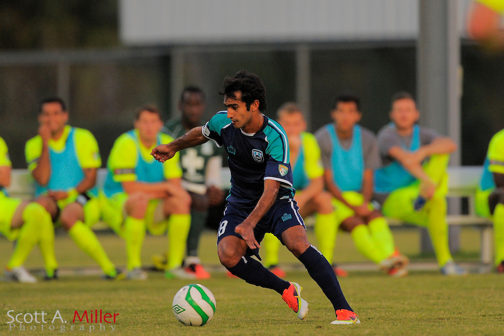 VSI Tampa Bay FC defender Alex Freitas (8) during a USL-Pro soccer game against the Wilmington Hammerheads at Plant City Stadium in Plant City, Florida on May 26, 2013. ..©2013 Scott A. Miller