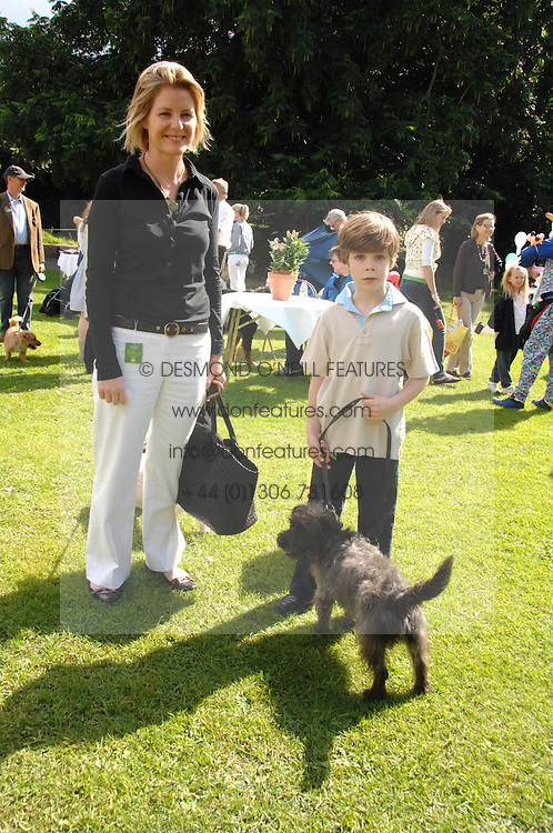 VISCOUNTESS LINLEY and her son CHARLES with their dogs Smudge and Shaggy at Macmillan Dog Day in aid of Macmillan Cancer Support, held at Royal Hospital Chelsea, London on 3rd July 2007.<br /><br />NON EXCLUSIVE - WORLD RIGHTS