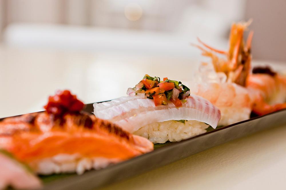 Sushi is truly an art when prepared by Chef Noriaki Yasutake.