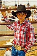 Young cowboy at rodeo