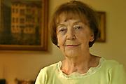 25.05.2006 Warszawa . Maria Kosk  Brzecka in her home. 14 years old prisoner of concentration camps: Auschwitz (nr. 83110), Ravensbruck and Buchenwald kommando Meuselwitz. Fot. Piotr Gesicki.