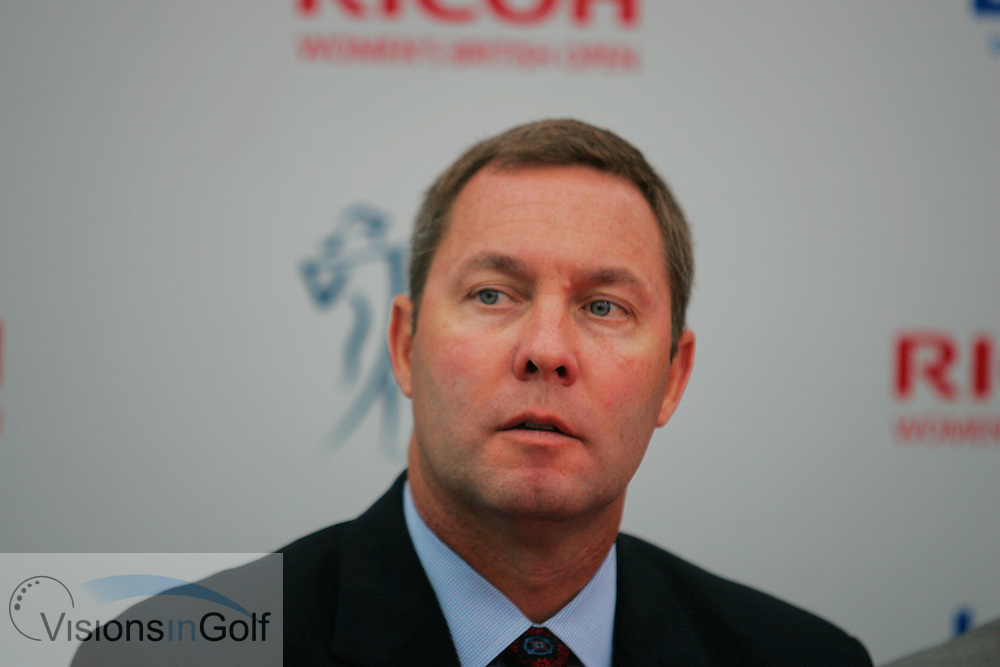 Mike Whan LPGA<br /> Ricoh Womens British Open 2012<br /> Picture Credit: Mark Newcombe  / www.visionsingolf.com