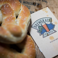 Pretzels and West Sixth Brewing beer with a Brewgrass Trail Passport pictured in Lexington, Ky., Tuesday, December 15, 2015. . (Photo by David Stephenson)