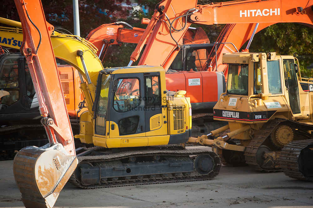 2016 October 11 - Construction equipment parked in Georgetown, Seattle, WA, USA. By Richard Walker
