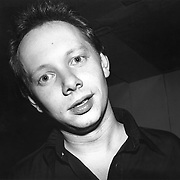 Joe Jackson poses backstage at The Bottom Line in New York City in April, 1979