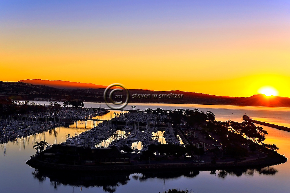 Sunrise Over Dana Point California Harbor