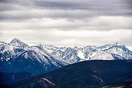Absaroka Mountains, south of Livingston, Montana, fresh snow