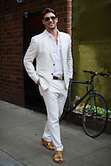 White Linen Suit, Outside Stella McCartney Resort 2016