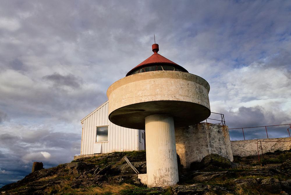 The lighthouse at Fjøløy, Rogaland, Norway.