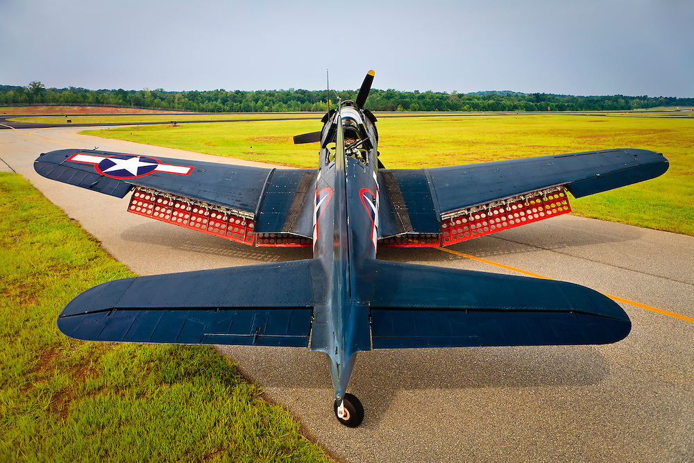 The SBD-5 Dive Bomber on the taxiway at Falcon Field, Peachtree City, Georgia.  Owned/operated by the Dixie Wing of the Commemorative Air Force.