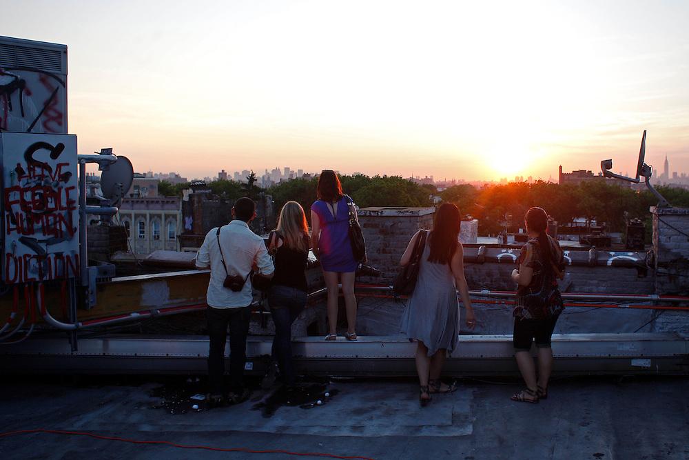 Rooftop View.  Bushwick, Brooklyn