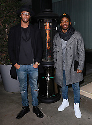 Casyo 'Krept' Johnson and Karl 'Konan' Wilson   attends LCM a/w 2015: Christopher Raeburn and Mens Health Party at The Sanderson Hotel, Berners Street, London on Saturday 10 January 2015